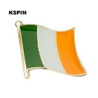 Ücretsiz kargo İrlanda Metal Bayrak Rozeti Bayrak Pin KS-0012