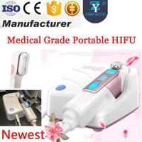 Uso domestico HIFU Lifting del viso Pelle che stringe Rimozione delle rughe HIFU Therapy Macchina portatile HIFU ad ultrasuoni focalizzata ad alta intensità