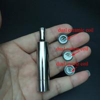 Cera dupla cerâmica Rod bobina atomizador tanque de aço inoxidável com dupla qauartz bobina SS cera atomizadores VS Skillet atomizador canhão atomizador