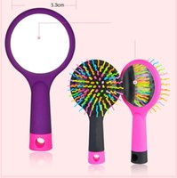 2018 Special Offer Pvc Hairbrush Hot Sale Rainbow Comb Multi...