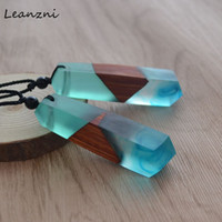 Wholesale- Leanzni New fashion hand wood resin necklace pend...