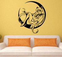 Decal Removable Home Decor Vinyl Decal Cartoon Sailor Moon S...
