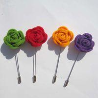 Frete grátis! Mais novo 24 PÇS / LOTE 3 CM sentiu rose flores lapela pinos 13 cores para sua escolha