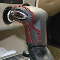 ل volkswagen Magotan / Lavida 2011 / Passat CC غطاء ناقل الحركة الأوتوماتيكي لتصفيف السيارة جلد طبيعي اكسسوارات السيارات اكسسوارات الديكور الداخلي