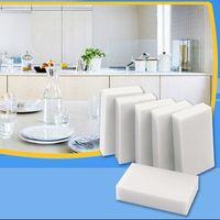 500 pcs / lot blanc magie mélamine éponge 100 * 60 * 20mm gomme de nettoyage éponge multi-fonctionnelle sans sac d'emballage ménage outils de nettoyage