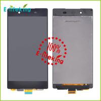 Sony Z4 Için LCD Ekran Dokunmatik Ekran Digitizer Meclisi Yüksek Kalite Sony Z4 LCD SiyahBeyaz Yedek Parçalar Ile / Hiçbir Çerçeve
