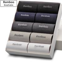 Toptan-Bendu Erkekler Bambu Çorapları Utaran Anti-Bakteriyel Rahat Deodorantı Nefes Rahat Iş Adam Çorap (10 Çift / grup)