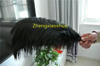 Envío gratis 50 unids Pluma de avestruz negro 16-18INCH (40-45 cm) centro de la boda decoracion decoración del partido del partido