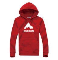 6 Kolor! Nowa Jesienna Zima Burton Drukowane Bluzy Mężczyźni Casual Polece Długi Rękaw Płaszcz Wysokiej Jakości Bluzy Bluzy męskie Hip Hop