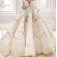 화려한 레이스 공 가운 웨딩 드레스 2021 신부 가운 공 가운 봄 Sweetheart 새로운 웨딩 가운 온라인 맞춤 제작
