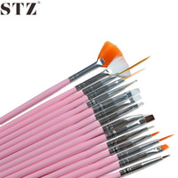 Wholesale- STZ 15pcs Pro Nail Art Decorations Brush Set Tool...