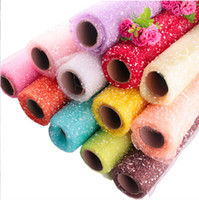 Festival Decoration Polyester Snow Mesh Roll For flower Wrap...