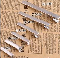Wholesale-5pcs /ロット送料無料卸売金属シングルプロングアリゲーターアリゲータークリップヘア弓ヘアーツール