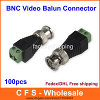 100pcs Coax CAT5 To Camera CCTV BNC UTP Video Balun Connecto...
