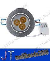 9W 3X3W بقيادة النازل راحة مصباح AC 110-240V عكس الضوء الصمام سقف النازل دافئ / طبيعي / بارد أبيض + امدادات الطاقة MYY10084A