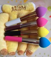 Heißer Verkauf Flüssigkeit / Creme Foundation Concealer Spitz Make-Up Schwamm Mixer Pinsel Schaum Applikator Mit Vitamin E