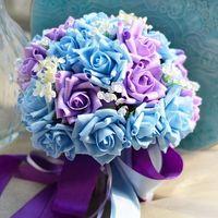 Neue Hochzeit Brautsträuße PE Band Künstliche Rosen 30 teile / satz Hochzeit Brautjungfer Bouquets Party Blumen Ball Weihnachten Tischdekoration