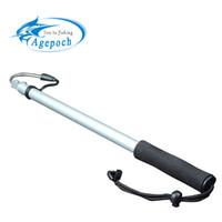 AgePoch Spearフック伸縮式海釣りガフステンレス弦アイスアルミ合金槍フックタックル