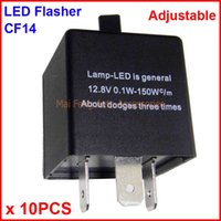 10PCS CF14-KT LED Flasher Adjustable Color 3 Pin Electronic Relay Module Fix Auto LED Turn Signal Error Flashing Blinker 12V 0.02A TO 20A