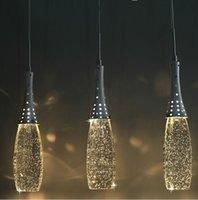LIVRAISON GRATUITE Moderne Cristal Lights Bubble Pendentif Lumière avec ampoules G4 - Shade Artistique Headlight Simple Heads Lustreux Éclairage