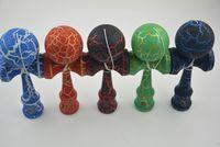 Giocattoli tradizionali giapponesi in legno kendama skill palla crack giada spada palla 18,5 cm kendama