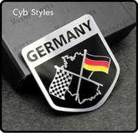 Métal Aluminium voiture Emblème Badge Sticker Autocollant Racing Motorsport Allemagne Drapeau Allemand pour VW Benz BMW Audi livraison gratuite