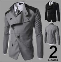 Autunno-2015 nuova marca di modo casuale degli uomini giacche e cappotti caldi Jacke tuta sportiva del cappotto di alta qualità Chaquetas Giubbotti da uomo XXL