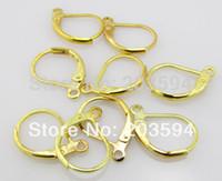 500 قطعة / الوحدة النحاس اليدوية فرنسا مطلية بالذهب هوك أقراط كليب ليفر عودة أسلاك الأذن مجوهرات العثور 16 ملليمتر