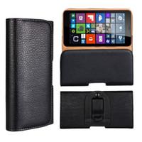 1PCS Moda Belt Clipe Pouch Case for Nokia Lumia 640 Wasit Titular Cor Preto