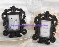 30pcs 흑백 색상 화려한 바로크 스타일 사진 그림 프레임 웨딩 파티 테이블 벽 카드 홀더 선물