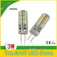 200 개 SMD 3014 LED 전구 조명 DC 12 볼트 G4 2 와트 3 와트 24 Led 따뜻한 따뜻한 화이트 옥수수 전구 보증 2 년