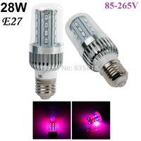 Toptan-Yeni 28 W E27 20Red / 8Blue AC85-265V 18 W / 43 W / 54 W / 60 W LED Büyümek Mısır Işık Lambası Çiçekli Bitkiler ve Hidroponik Ücretsiz Nakliye Için
