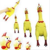 Shrilling Rubber Chicken Jokes Toys Dog Pet urlando pollo per bambini Gadget per feste Regali Sound Spremere giocattoli di grido