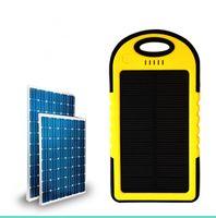 손전등 방수 충격 방지와 휴대폰 노트북 카메라 MP4 휴대용 5000MAH 전원 은행 태양열 충전기 및 배터리 태양 전지 패널