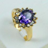 الشحن مجانا 1 قطع 14k لا يقاوم الذهب شغلها جولة الزركون قطع الكريستال امرأة خاتم هدية خاتم الزواج