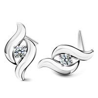 Top-Qualität 925 Sterling Silber Elemente Kristall Schmuck Ohrstecker Charme ethnischen Vintage Hochzeit neue Ankunft
