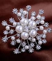 золото * серебряный бриллиант жемчужина цветок мужчины женская грудь брошь (45 мм*50 мм ) (xgspc)