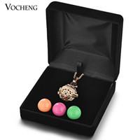 قفص عرض المجوهرات قلادة مربع 2 ألوان الملاك الكرة حقيبة حمل (VA-189) Vocheng