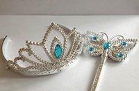 Cenerentola bacchette corona set Festa di Natale ragazze fata farfalla bacchetta gemma bacchette magiche copricapo principessa COS puntelli regalo di favore di partito