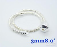 Fashion Women Best Gift 20pcs 925 Silver European Bead Snake...