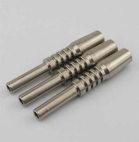 10/14 / 18mm Gr2 Domeless titanio per nettare chiodo titanio puro per Nector Collector Kit Ti Tips all'ingrosso vaporizzatori Smokinig accessori
