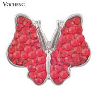 Noosa Interchangeable Crystal Buttons Accessoire de bijoux Papillon Ginger Snaps Vocheng (Vn-407)