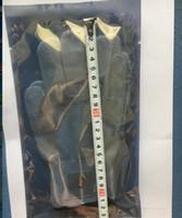 200pcs (100pair blanc argent fibre conductrice électrode conductrice gants de massage chaussettes genouillères poignet utilisation pour unités TENS / EMS avec sac de vente au détail
