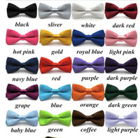 New Boys Girls School Fashion Bow tie For Kids Bowtie Solid ...