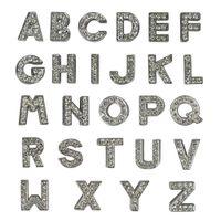 핑크 / 화이트 색상 맞춤 이름 A - Z DIY 슬라이더 편지 라인 석 10mm 편지 개 애완 동물 고양이 이름 부적