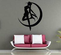 Decalcomania smontabile Home Decor Vinyl Decal Cartone animato Sailor Moon Outline Sketch Baby Room Adesivo Anime Wall Paper Wall Sticker