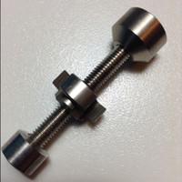 Süper 100% Ayarlanabilir Titanyum Tırnak Sınıf 2 Titanyum Çivi Için 14mm 18mm GR2 Ti Çivi Sigara Cam Bongs aksesuarları