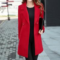 Frauen-Wollmantel-langer warmer Mantel der Winter-Mantel-Frauen europäische  Kaschmir- 9c4475daf9