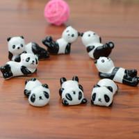 Panda Sevimli Seramik Süslemeleri Çubuklarını Tutucu Raf Çubuklarını Mat Çubuklarını Bakım Mutfak Sofra Malzemeleri F20172565
