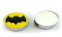 (20 , 50)PCS lot 8MM Enamel Batman Slide Charms DIY Alloy Ac...